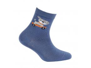Chlapecké vzorované ponožky WOLA PEJSEK modré