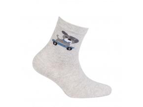 Chlapecké vzorované ponožky WOLA PEJSEK šedé