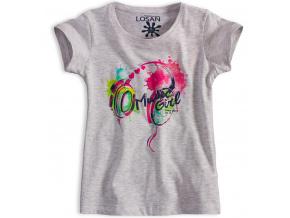 Dívčí tričko LOSAN MUSIC šedé
