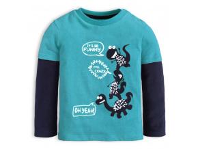 Chlapecké tričko KNOT SO BAD CRAZY DINO modré