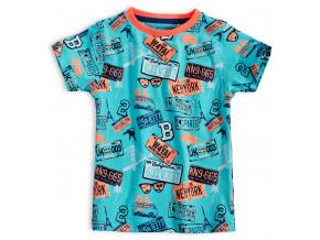 Dětské tričko KNOT SO BAD ROAD tyrkysové
