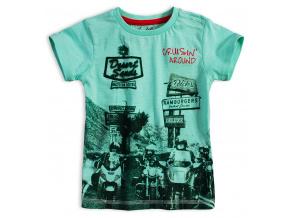 Chlapecké tričko KNOT SO BAD BIKERS tyrkysové