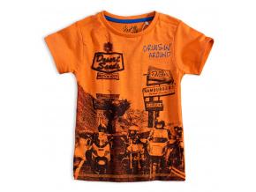 Chlapecké tričko KNOT SO BAD BIKERS oranžové