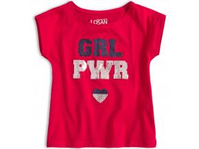 Dívčí tričko LOSAN GIRL POWER červené