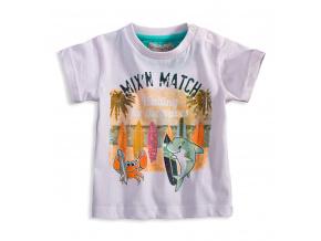 Dětské tričko Mix´nMATCH WAVES bílé