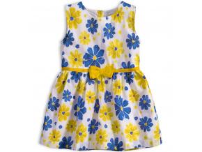 Dívčí letní šaty KNOT SO BAD KVĚTY žluté