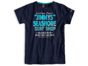 Chlapecké tričko s krátkým rukávem PEBBLESTONE SURF SHOP tmavě modré