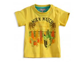 Dětské tričko Mix´nMATCH WAVES žluté