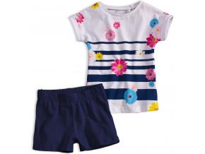 Dívčí letní souprava KNOT SO BAD FLOWERS modrá