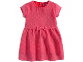 Dívčí šaty KNOT SO BAD LOVELY LOOK růžové
