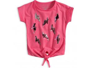 Dívčí tričko s flitry KNOT SO BAD LIGHTNING růžové