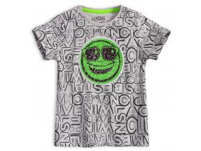 Chlapecké tričko s překlápěcími flitry LOSAN PLAYERS šedé