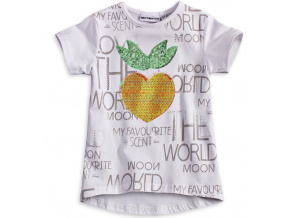 Dívčí tričko s flitry Mix´nMATCH JAHODA bílé