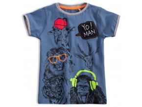 Dětské tričko KNOT SO BAD YO MAN modré