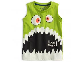 Chlapecké tričko bez rukávů KNOT SO BAD HUNGRY zelené