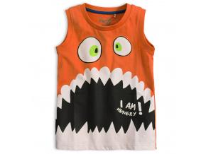 Chlapecké tričko bez rukávů KNOT SO BAD HUNGRY oranžové
