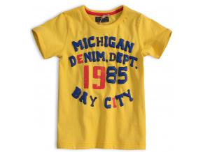Chlapecké tričko MINOTI DENIM žluté