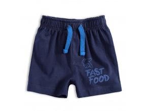 Kojenecké bavlněné šortky FAST FOOD tmavě modré