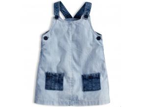 Dívčí šaty KNOT SO BAD DENIM STYLE světle modré