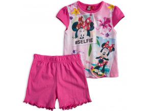 Dívčí letní pyžamo Disney MINNIE SELFIE růžové