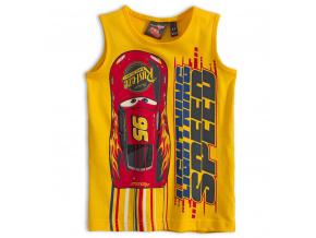 Chlapecké tričko bez rukávů PIXAR AUTA SPEED žluté