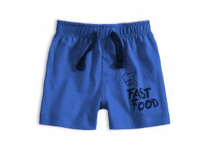 Kojenecké bavlněné šortky FAST FOOD modré