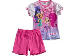 Dívčí letní pyžamo SHIMMER & SHINE LOVE růžové azalea