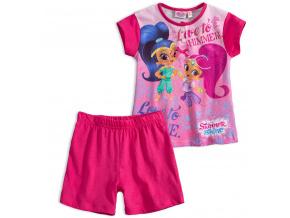 Dívčí letní pyžamo SHIMMER & SHINE LOVE TO SHINE růžové fuxi