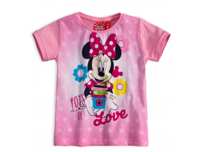 Dívčí tričko Disney MINNIE LOVE světle růžové quarzo