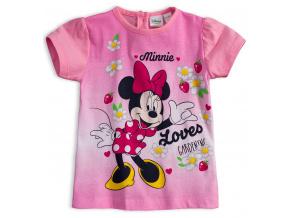 Tričko pro holčičky Disney MINNIE GARDEN světle růžové