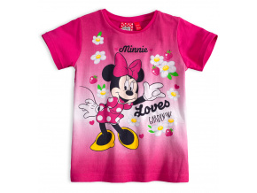Dívčí tričko Disney MINNIE GARDENING růžové fuxia