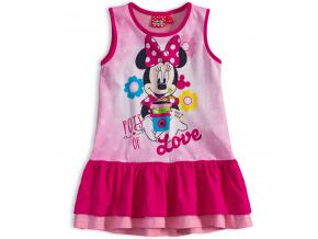 Dívčí letní šaty Disney MINNIE GARDEN růžové