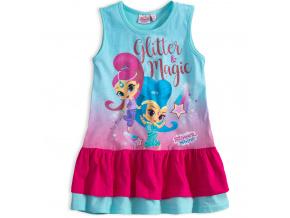 Dívčí letní šaty SHIMMER & SHINE GLITTER tyrkysové