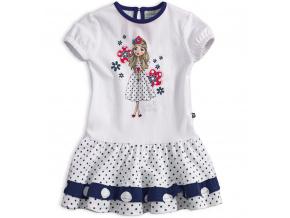 Dívčí šaty s krátkým rukávem Mix´nMATCH MISS SWEETY modré