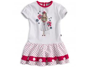 Dívčí šaty s krátkým rukávem Mix´nMATCH MISS SWEETY červené