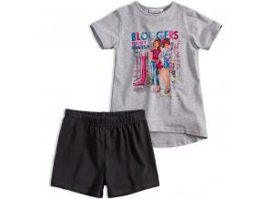 Dívčí tričko a šortky Mix´nMATCH BLOGGERS šedý melír