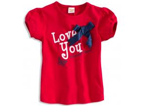 Kojenecké dívčí tričko DIRKJE LOVE YOU červené