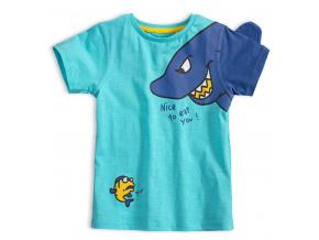 Dětské tričko KNOT SO BAD EAT YOU tyrkysové