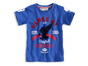 Tričko s potiskem pro kluky MINOTI HAWKS modré