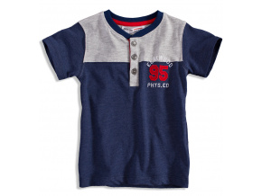 Dětské tričko s krátkým rukávem MINOTI ELM tmavě modré