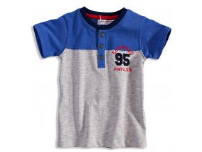 Dětské tričko s krátkým rukávem MINOTI ELM šedý melír