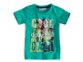 Dětské tričko s potiskem MINOTI HEAT zelené
