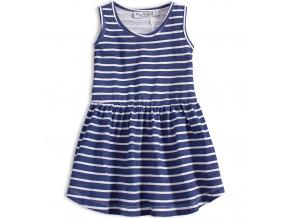 Dívčí letní šaty KNOT SO BAD PROUŽKY modré