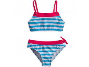 Dívčí plavky KNOT SO BAD PROUŽKY světle modré