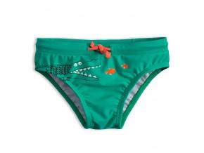Dětské plavky Knot So Bad KROKODÝL zelené