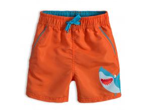 Chlapecké koupací šortky Knot So Bad ŽRALOK oranžové