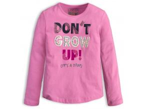 Dívčí triko Losan DON´T GROW růžové