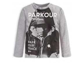 Chlapecké tričko Canguro PARKOUR TRACE šedé