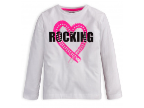 Dívčí tričko Mix n Match ROCKING bílé