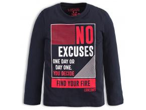 Chlapecké tričko Losan NO EXECUSES modré